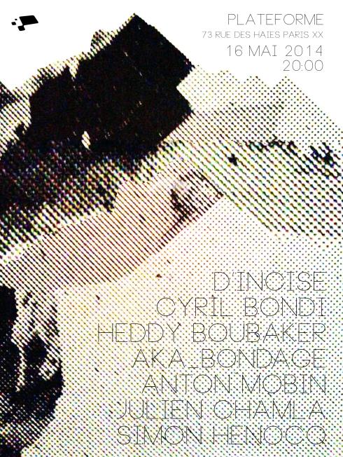 Concert 16 Mai 2014 -  Plateforme, Paris : KABIN & HEDDY BOUBAKER / DIATRIBES / HELVED RUM